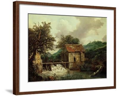 Two Watermills, 1650-1652-Jacob Ruysdael-Framed Giclee Print