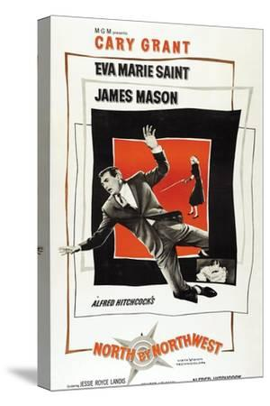 """Breathless, 1959, """"North by Northwest"""" Directed by Alfred Hitchcock--Stretched Canvas Print"""