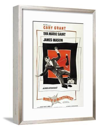 """Breathless, 1959, """"North by Northwest"""" Directed by Alfred Hitchcock--Framed Giclee Print"""