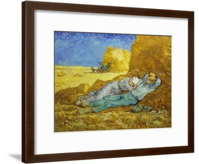 'The Siesta' or 'After Millet', 1889-1890-Vincent van Gogh-Framed Giclee Print
