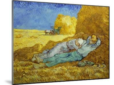 'The Siesta' or 'After Millet', 1889-1890-Vincent van Gogh-Mounted Giclee Print