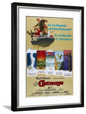 """Castaways, 1962, """"In Search of the Castaways"""" Directed by Robert Stevenson--Framed Giclee Print"""