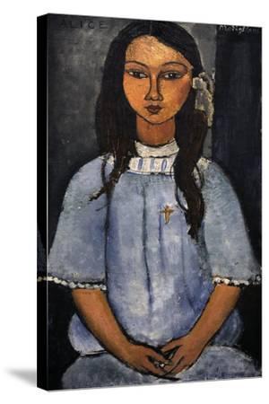 """Alice"" C.1918. National Museum of Art. Copenhagen. Denmark-Amedeo Modigliani-Stretched Canvas Print"