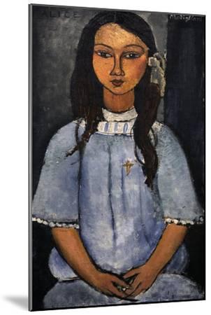 """Alice"" C.1918. National Museum of Art. Copenhagen. Denmark-Amedeo Modigliani-Mounted Giclee Print"