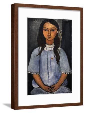 """""""Alice"""" C.1918. National Museum of Art. Copenhagen. Denmark-Amedeo Modigliani-Framed Giclee Print"""