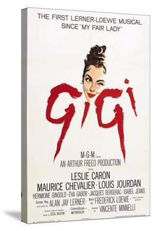 "The Parisians, 1958, ""Gigi"" Directed by Vincente Minnelli--Stretched Canvas Print"