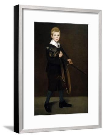 """Boy With a Sword"" 1861-Edouard Manet-Framed Giclee Print"