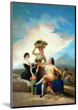 The Grape Harvest or Autumn, 1786-Francisco de Goya-Mounted Giclee Print