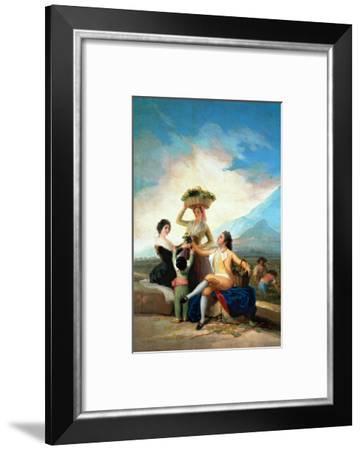 The Grape Harvest or Autumn, 1786-Francisco de Goya-Framed Giclee Print