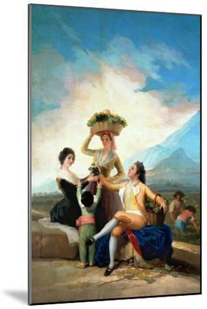 The Grape Harvest or Autumn, 1786-Francisco de Goya-Mounted Giclee Print