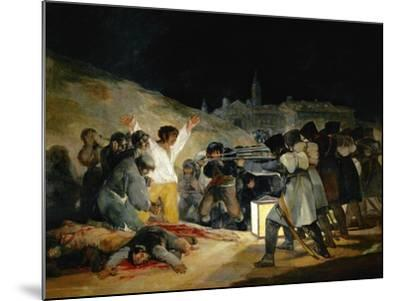The 3rd of May In Madrid, 1814, Spanish School-Francisco de Goya-Mounted Giclee Print