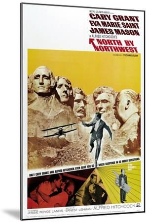 """Breathless, 1959, """"North by Northwest"""" Directed by Alfred Hitchcock--Mounted Giclee Print"""