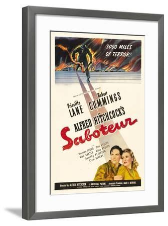Saboteur, 1942, Directed by Alfred Hitchcock--Framed Giclee Print