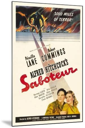 Saboteur, 1942, Directed by Alfred Hitchcock--Mounted Giclee Print