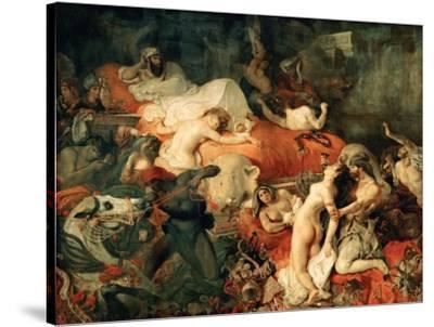 Death of Sardanapalus, 1827-Eugene Delacroix-Stretched Canvas Print