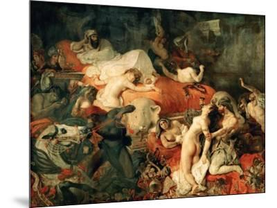Death of Sardanapalus, 1827-Eugene Delacroix-Mounted Giclee Print