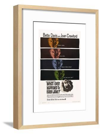 What Ever Happened To Baby Jane?, 1962, Directed by Robert Aldrich--Framed Giclee Print