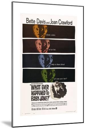 What Ever Happened To Baby Jane?, 1962, Directed by Robert Aldrich--Mounted Giclee Print