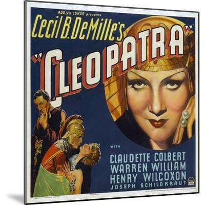 Cleopatra, 1934, Directed by Cecil B. Demille--Mounted Giclee Print