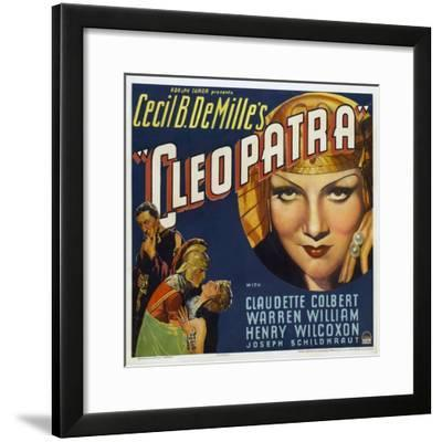 Cleopatra, 1934, Directed by Cecil B. Demille--Framed Giclee Print