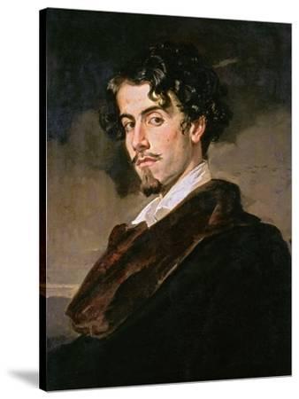 Portrait of Gustavo Adolfo Becquer, 1862-Valeriano Becquer-Stretched Canvas Print