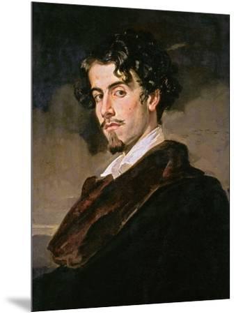 Portrait of Gustavo Adolfo Becquer, 1862-Valeriano Becquer-Mounted Giclee Print