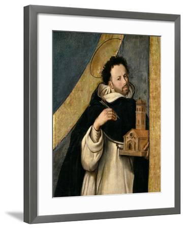 Saint Dominic, 1612-1614, Spanish School-Juan Bautista Maino-Framed Giclee Print