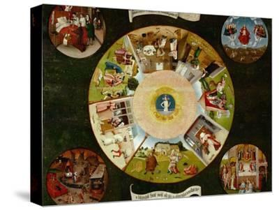 The Seven Deadly Sins And the Four Last Things, Ca. 1500-Hieronymus Bosch-Stretched Canvas Print