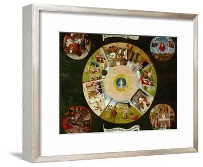 The Seven Deadly Sins And the Four Last Things, Ca. 1500-Hieronymus Bosch-Framed Giclee Print