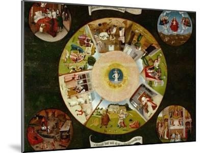 The Seven Deadly Sins And the Four Last Things, Ca. 1500-Hieronymus Bosch-Mounted Giclee Print