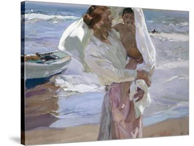 Just Out of the Sea, 1915-Joaqu?n Sorolla y Bastida-Stretched Canvas Print