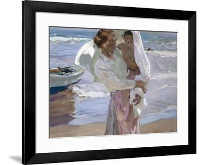 Just Out of the Sea, 1915-Joaqu?n Sorolla y Bastida-Framed Giclee Print