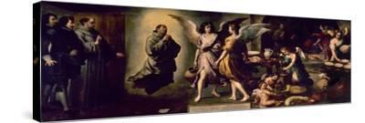 Angels' Kitchen, 1646, Spanish School-Bartolome Esteban Murillo-Stretched Canvas Print