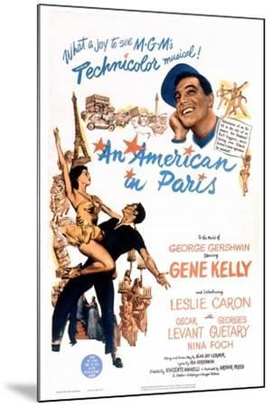An American In Paris, 1951, Directed by Vincente Minnelli--Mounted Giclee Print