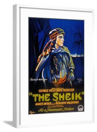The Sheik, 1921, Directed by George Melford--Framed Giclee Print