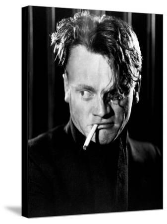 """James Cagney. """"Beer And Blood"""" 1931, """"The Public Enemy"""" Directed by William A. Wellman--Stretched Canvas Print"""