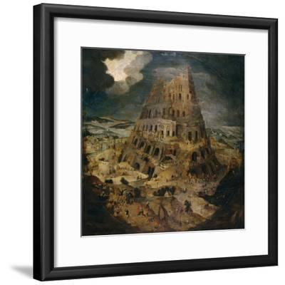 Construction of the Tower of Babel, Ca. 1595, Flemish School-Pieter Brueghel the Younger-Framed Giclee Print