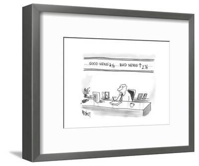 Good News down, Bad News up - Cartoon-Christopher Weyant-Framed Premium Giclee Print