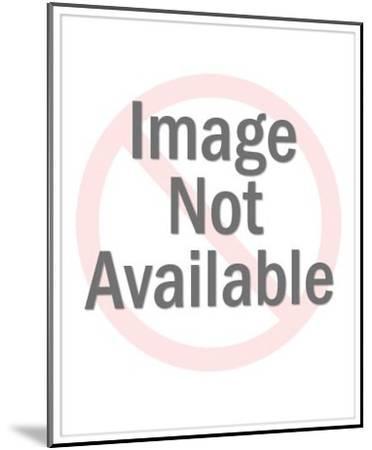 Swimming Mallard Duck-Pop Ink - CSA Images-Mounted Art Print