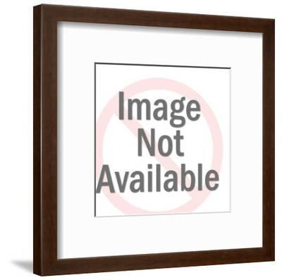 Man Pointing Over There-Pop Ink - CSA Images-Framed Art Print