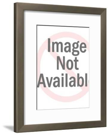 Man Standing in Front of Another Man's Desk-Pop Ink - CSA Images-Framed Art Print