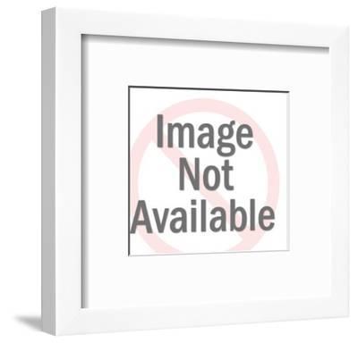 Man Fishing off Dock-Pop Ink - CSA Images-Framed Art Print