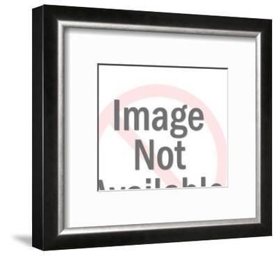 Praying Hands over bible-Pop Ink - CSA Images-Framed Art Print