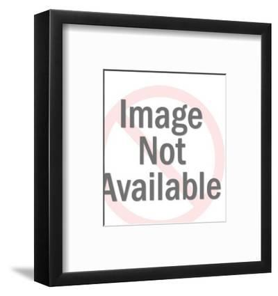 Woman Placing Food in Oven-Pop Ink - CSA Images-Framed Art Print