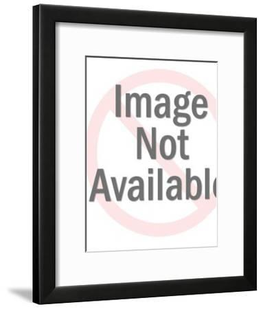 Man Holding Party Balloon-Pop Ink - CSA Images-Framed Art Print
