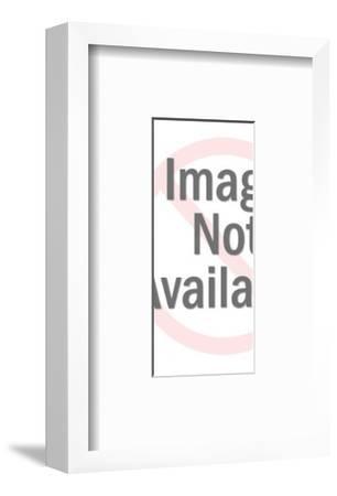 Silhouette of Man-Pop Ink - CSA Images-Framed Art Print
