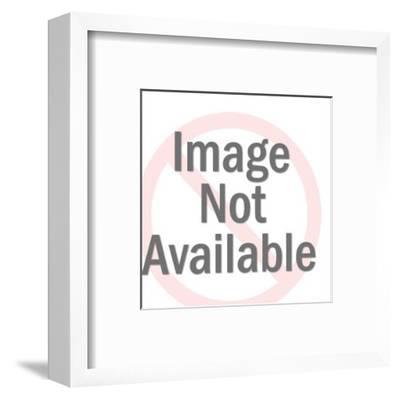 Donkey Holding Blank Sign-Pop Ink - CSA Images-Framed Art Print