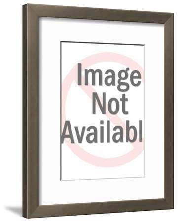 Stylized Man in Baseball Cap-Pop Ink - CSA Images-Framed Art Print