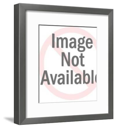 Silhouette of Couple-Pop Ink - CSA Images-Framed Art Print