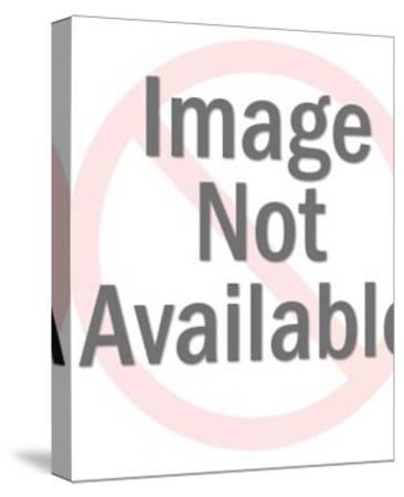 Smiling Older Man-Pop Ink - CSA Images-Stretched Canvas Print